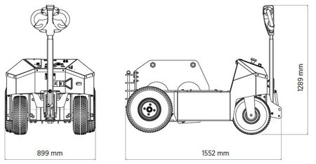 DOSTAWA GRATIS! 00075119 Ciągnik, holownik elektryczny do transportu wózków