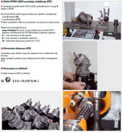 DOSTAWA GRATIS! 01538890 Silnik hydrauliczny tłoczkowy Hydro Leduc (objętość robocza: 25 cm³, maksymalna prędkość ciągła: 6300 min-1 /obr/min)