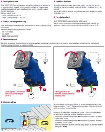 DOSTAWA GRATIS! 01538907 Silnik hydrauliczny tłoczkowy Hydro Leduc (objętość robocza: 63 cm³, maksymalna prędkość ciągła: 5000 min-1 /obr/min)