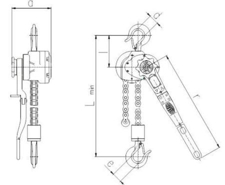 DOSTAWA GRATIS! 22021342 Wciągnik dźwigniowy, rukcug z łańcuchem sworzniowym RZV/5.0t (wysokość podnoszenia: 3m, udźwig: 5 T)