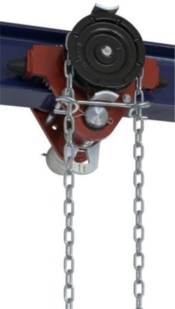 DOSTAWA GRATIS! 2203095 Wózek jedno-belkowy z napędem ręcznym Z420-A/1.0t/3m (wysokość podnoszenia: 3m, szerokość dwuteownika od: 50-113mm, udźwig: 1 T)