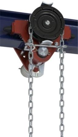 DOSTAWA GRATIS! 22038960 Wózek jedno-belkowy z napędem ręcznym Z420-A/1.0t/7m (wysokość podnoszenia: 7m, szerokość dwuteownika od: 50-113mm, udźwig: 1 T)