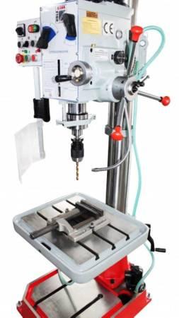 DOSTAWA GRATIS! 44350072 Wiertarka przekładniowa z automatycznym posuwem w osi Z/pionowym Holzmann (zakres pracy w poziomie/pionie: 260/754 mm, moc: 1,6 kW)