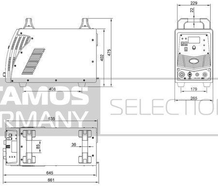 DOSTAWA GRATIS! 45643385 Przecinarka plazmowa Stamos 400V (prąd cięcia: 10-125A. grubość /szerokość cięcia: 34 /1,4mm)