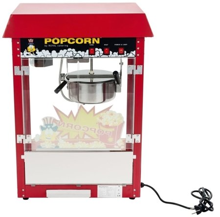 DOSTAWA GRATIS! 45643432 Maszyna do popcornu z wózkiem Royal Catering (moc: 1600W, wydajność: 5 - 6 kg/h)