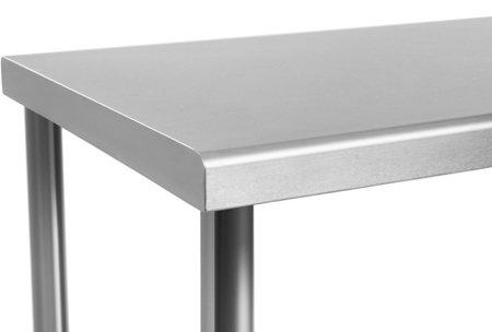 DOSTAWA GRATIS! 4564351 Stół roboczy ze stali nierdzewnej bez kantu Royal Catering (wymiary: 120 x 70 x 85 cm)