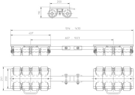 DOSTAWA GRATIS! 4993994 Podwozie transportowe (nośność: 12T)