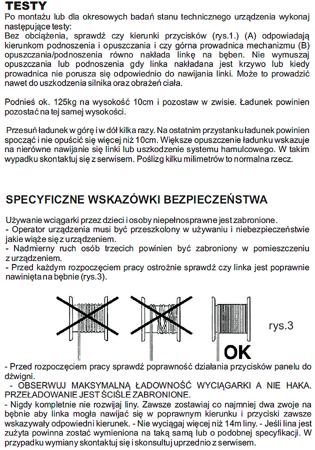 DOSTAWA GRATIS! 55951166 Wyciągarka linowa elektryczna Industrial 125/250 230V, hamulec automatyczny (udźwig: 125/250 kg) + wózek elektryczny 0,5T