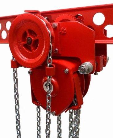 DOSTAWA GRATIS! 9588170 Wózek szynowy do wciągników przejezdnych (udźwig: 2,5 T, wysokość podnoszenia: 3m, zakres toru jezdnego: 98-143 mm)