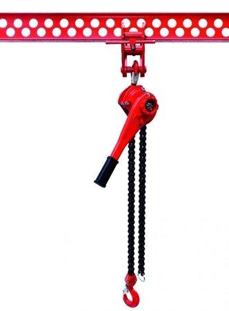 DOSTAWA GRATIS! 9588182 Wciągnik łańcuchowy dźwigniowy, rukcug, łańcuch Galla (udźwig: 6,0 T, wysokość podnoszenia: 1,5m)