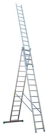 DOSTAWA GRATIS! 99674945 Drabina aluminiowa 3x11 Drabex na schody (wysokość robocza: 8,80m)