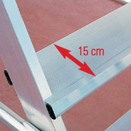 DOSTAWA GRATIS! 99675053 Drabina magazynowa jezdna FARAONE (wysokość robocza: 3,50m)