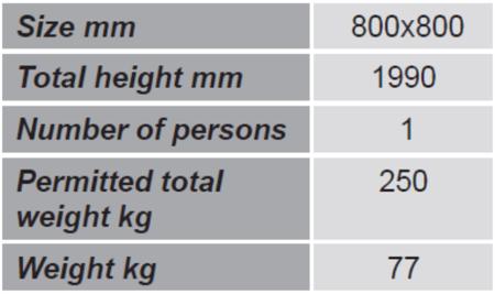 Kosz roboczy do wózka widłowego GermanTech (wymiary: 800x800 mm) 99724902