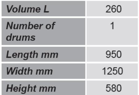 Paleta do beczek GermanTech (ilość beczek: 2, wymiary: 950x1250x580 mm) 99724722
