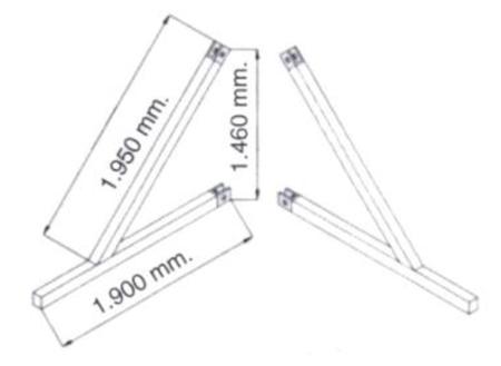 Podpory (komplet) do wyciągarki - 2 sztuk 08115186