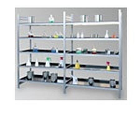 Regał ocynkowany zaczepowy na chemikalia, 4 półki (wymiary: 2000x1000x400 mm) 77156826