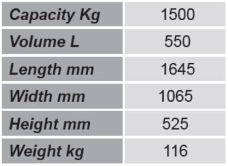 SWARK Niski pojemnik GermanTech (pojemność: 550 L) 99724697