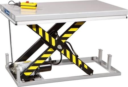 Stół podnośny elektryczny (wymiary platformy: 1000x1600mm, udźwig: 1000 kg, wysokość podnoszenia min/max: 205-990 mm) 3109770