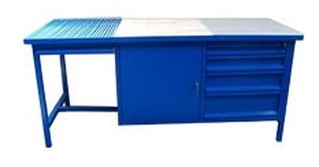 Stół spawalniczy, 4 szuflady, 1 szafka (wymiary: 2000x800x900 mm) 77156914