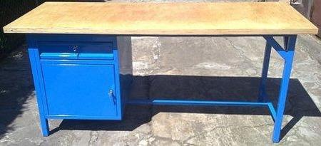 Stół warsztatowy, 1 szuflada, 1 szafka (wymiary: 2000x750x900 mm) 77156963
