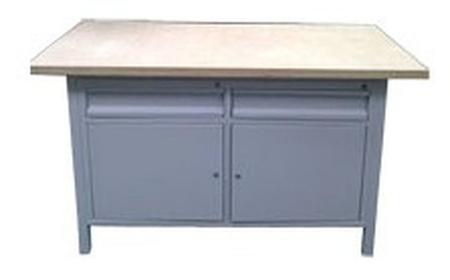 Stół warsztatowy, 2 szuflady, 2 szafki (wymiary: 1500x750x900 mm) 77156919