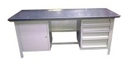 Stół warsztatowy, 4 szuflady, 1 szafka (wymiary: 2000x750x900 mm) 77156921