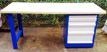 Stół warsztatowy, 4 szuflady (wymiary: 2000x750x900 mm) 77156989