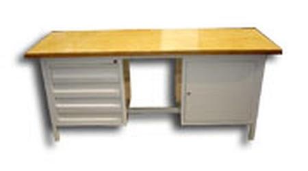 Stół warsztatowy, 5 szuflad, szafka (wymiary: 2000x750x900 mm) 77156859