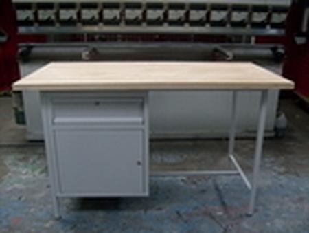 Stół warsztatowy jednostanowiskowy, drzwi, szuflada (wymiary: 1500x750x900 mm) 77156838