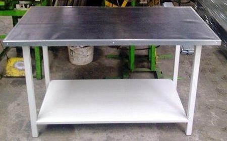Stół warsztatowy, półka metalowa (wymiary: 1500x750x900 mm) 77156932