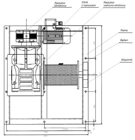 Tretos 28850138 Elektryczna wciągarka linowa (siła uciągu: 1900/2600 kg)