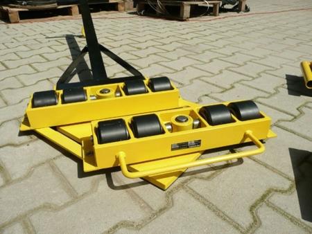 Wózek skrętny 8 rolkowy z prostokątną płytą nośną, rolki: 8x stal (nośność: 12 T) 12235614