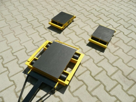 Zestaw wózków z prostokątną płytą nośną, rolki: 20x kompozyt (nośność: 36 T) 12235631
