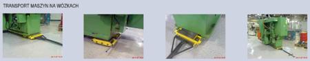 Zestaw wózków z prostokątną płytą nośną, rolki: 20x stal (nośność: 36 T) 12235632