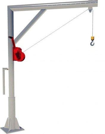 Żuraw słupowy z wciągarką ręczną (udźwig: 150 kg, długość liny: 12m) 00076180